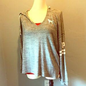 Comfy grey PINK hoodie